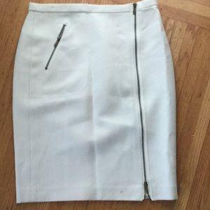 Jcrew off white pencil skirt
